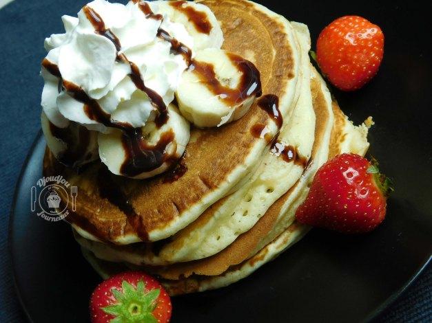 Pancakes Américains- Recette facile et rapide (sans repos)-4