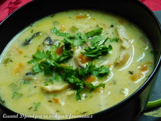 Soupe poulet champignons-2