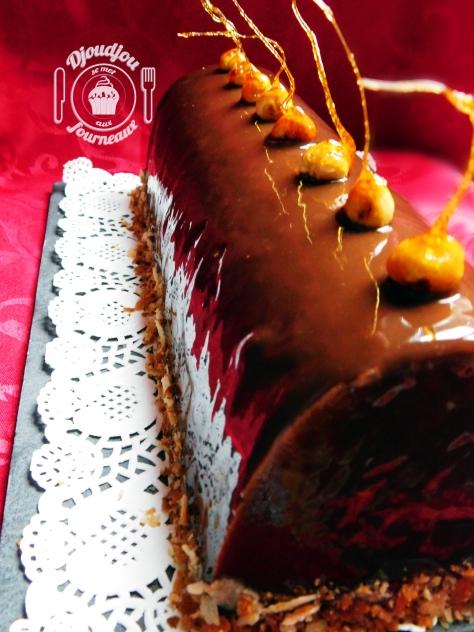 Bûche aux deux chocolats