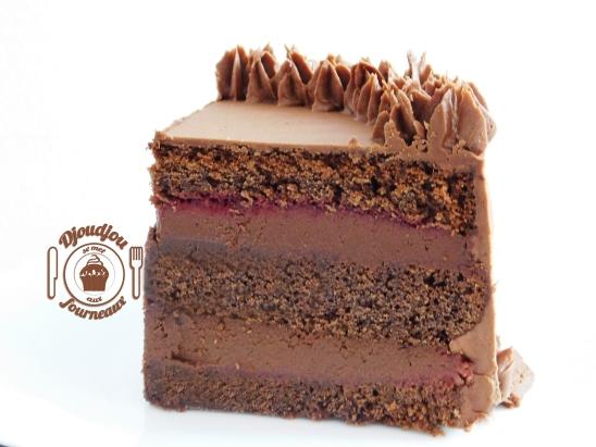 Layer cake chocolat framboise