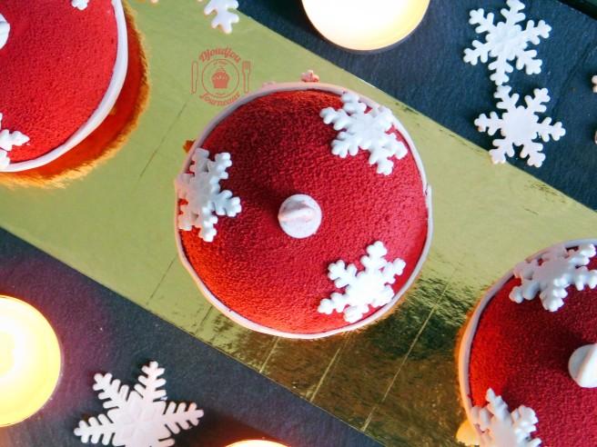 Boules de noël, façon tarte fraises/pistache