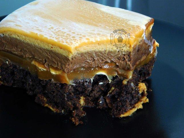 Entremet cacahuètes chocolat caramel